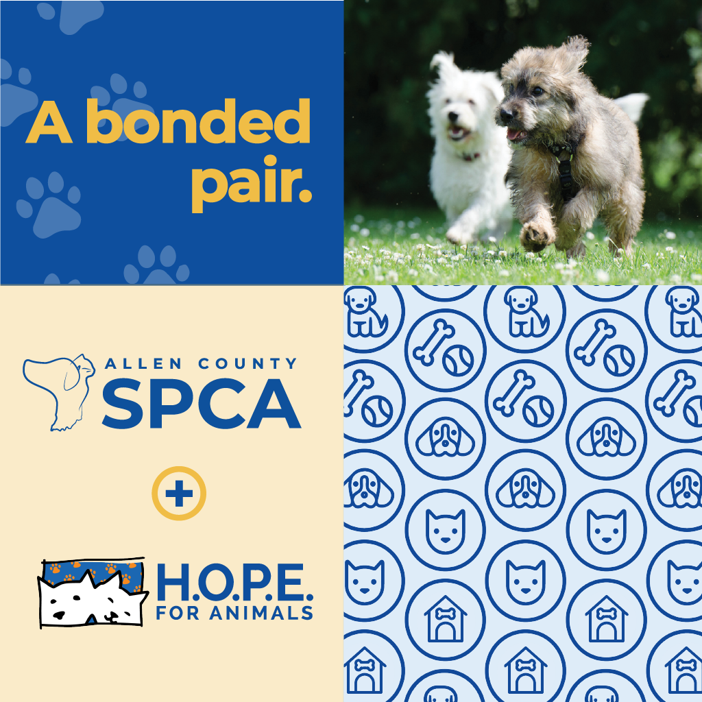Allen County SPCA and H.O.P.E. for Animals Merging
