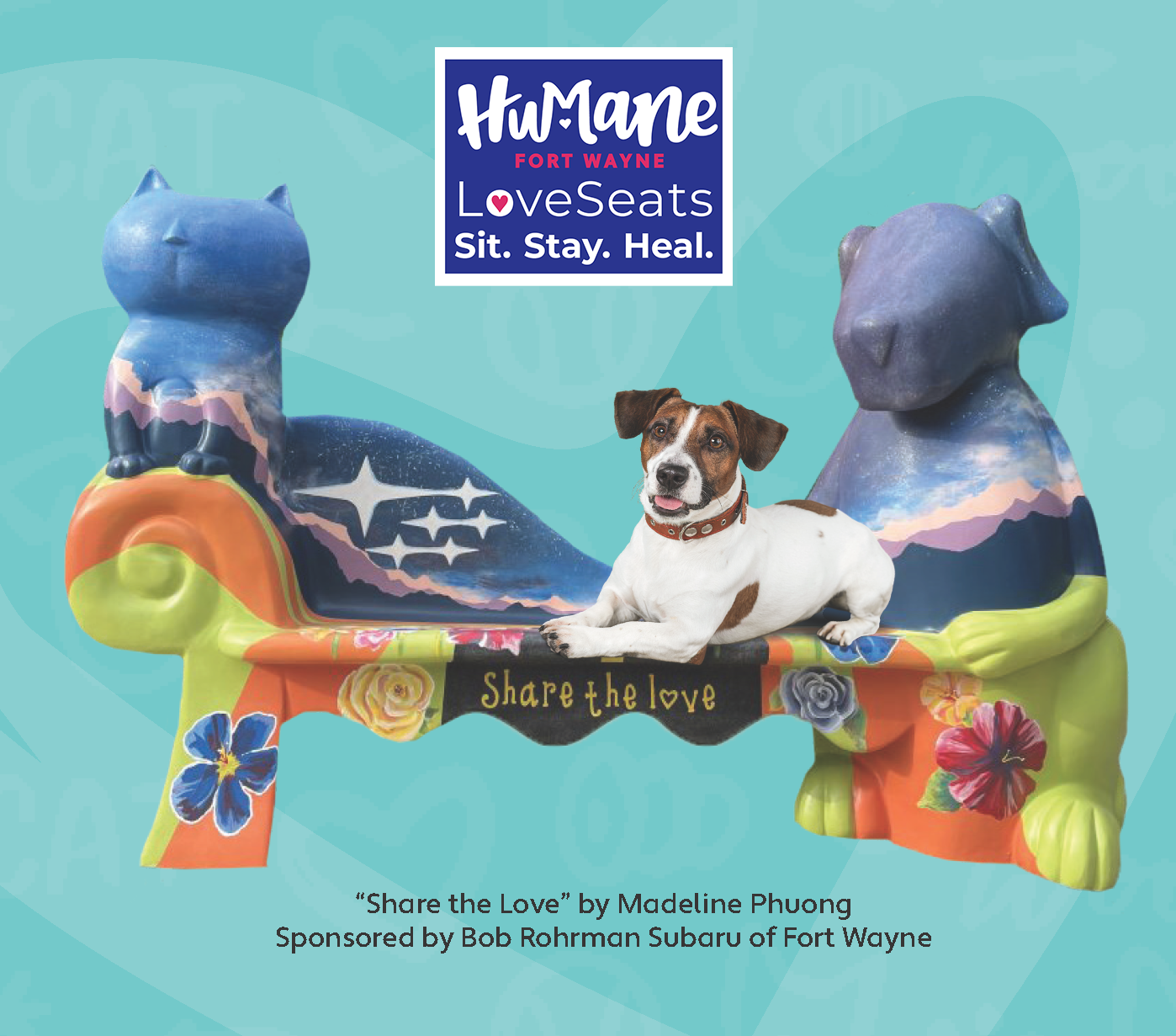 Humane Fort Wayne's LoveSeats Public Art Project Unveiling